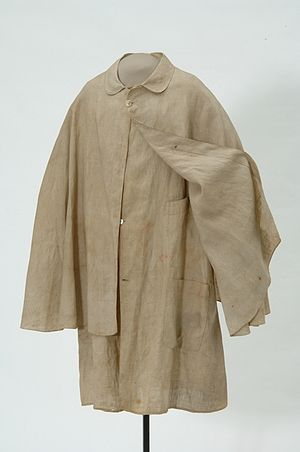 Duster (clothing) - Duster used by one of the Younger Brothers in the Northfield bank raid, 1876.