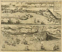 Map made for the Dutch invasion of Olinda in 1630