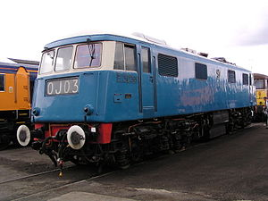 British Rail corporate liveries - Class 83 electric locomotive No.E3035 in Electric Blue livery
