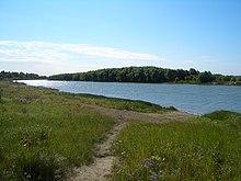 نهر إيرتيش في شرلاك (cherlak) بين الحدود
