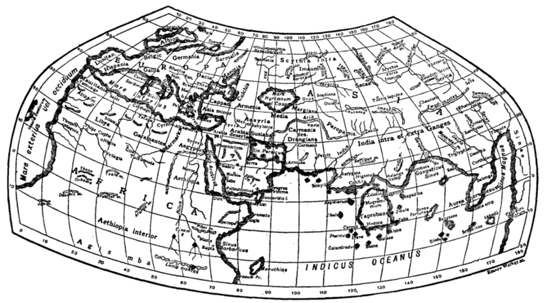 Fig. 3.—Ptolemy's Map.