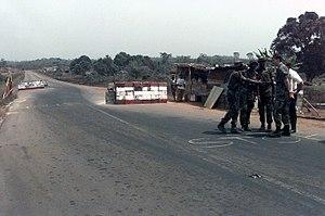 1998 Monrovia clashes - Image: ECOMOG checkpoint in Liberia