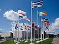 EU flags next to national art gallery, Vilnius, Lithuania presidency.jpg