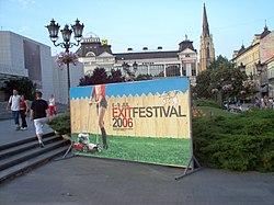 "Reklamni pano festivala ""Egzit"" 2006"