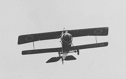 The much smaller lower wing is apparent in this photo of a Nieuport 17 Early Nieuport 17 climbing (cropped).jpg