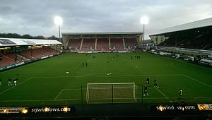 2016–17 Scottish Championship - Image: East End Park from Norrie Mc Cathie stand