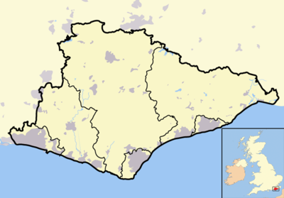 Location map East Sussex