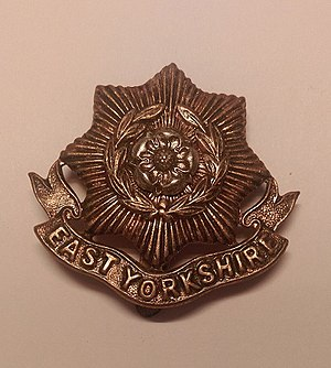 East Yorkshire Regiment - Cap badge of the East Yorkshire Regiment.