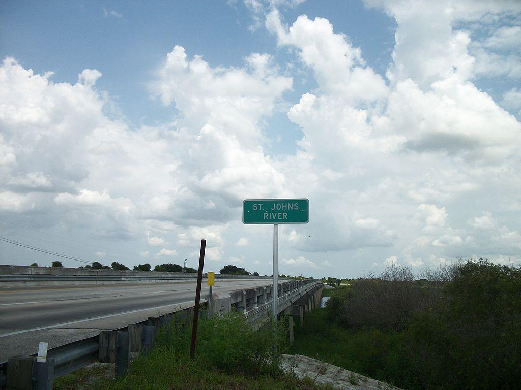 File Rosewood Florida Rc12409 Jpg: File:Eastbound FL 50 St Johns River Bridge Sign(Close-Up