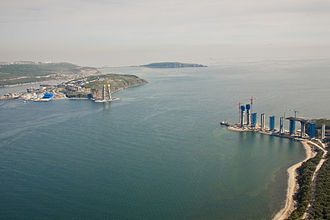 APEC Russia 2012 - Pylons sites of Russki Island Bridge