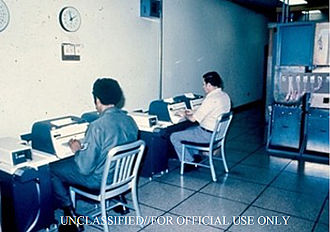 ECHELON - Teletype operators at the Yakima Research Station (YRS) in the early days of the ECHELON program