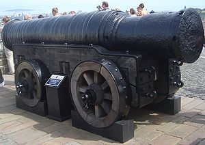 Cannon operation - Mons Meg - a 15th-century cannon.