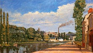 Édouard Béliard - Pontoise; View from the Locks (1874)