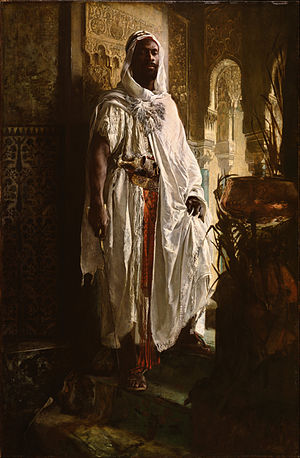 Eduard Charlemont - Philadelphia Museum of Art The Moorish Chief (originally titled The Guardian of the Seraglio), 1878.
