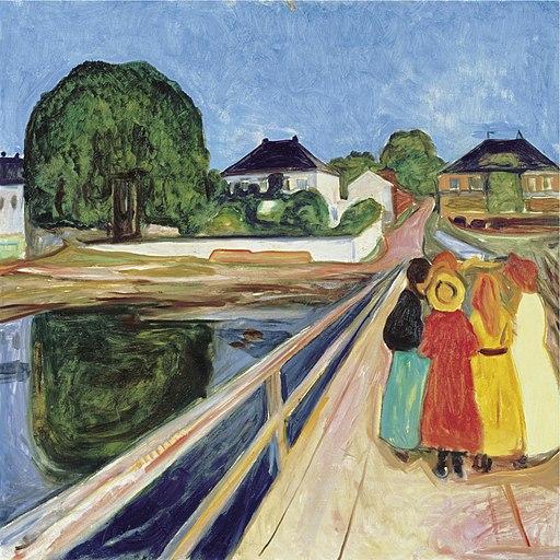 Edvard Munch - Pikene på broen (1902)