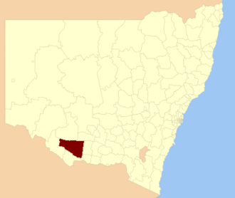 Edward River Council - Location in New South Wales
