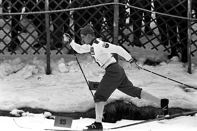 Photograph of the Finnish skier Eero Mäntyranta (1937–2013) at Innsbruck Olympic Games 1964.