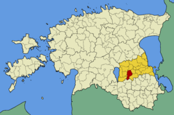 Nõo Parish within Tartu County.