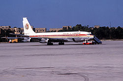 Egypt Air Boeing 707 in Malta.jpg
