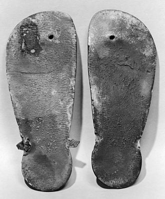 Flip-flops - Pair of leather thong sandals from the New Kingdom of Egypt (ca. 1550–1307 BC)