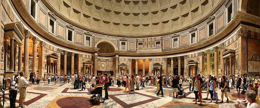 Einblick Panorama Pantheon Rom