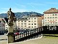 Einsiedeln. Blick von Benediktiner- Klastor..JPG