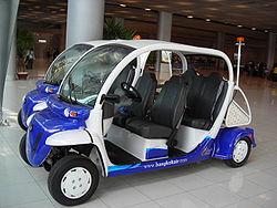 Electric vehicles at Suvarnabhumi
