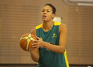 Australia women's national basketball team - Liz Cambage, the first woman in Olympic history to slam dunk a basketball