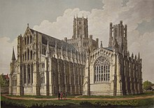 Northeast aspect of Ely Cathedral