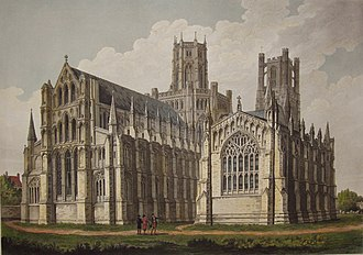 John Buckler - One of Buckler's drawings of Ely Cathedral