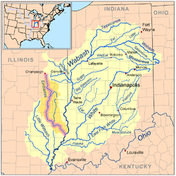 Embarras River Illinois Wikipedia - Map of illinois rivers