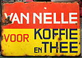 Enamel advertising sign, Van Nelle.JPG