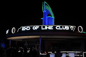 ElecTRONica - The End of Line Club was a Tron-themed bar and lounge.
