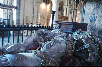Gwladys ferch Dafydd Gam - Monument to King Henry IV of England and his queen, Joan of Navarre, in Canterbury Cathedral, Kent. Gwladys served as a Maid-of-Honour to both of Henry's wives