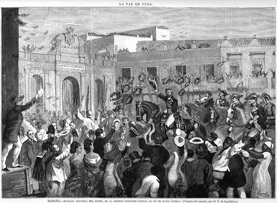 Entrada triunfal de Arsenio Martínez Campos en La Habana, 1878