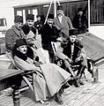 Enver Pasha, Omer Faruk Efendi and princes on board to the Gallipoli Front.jpg