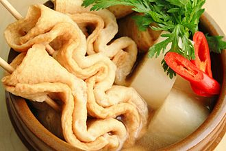 Oden - eomuk-tang or odeng-tang (Korean fish cake soup)