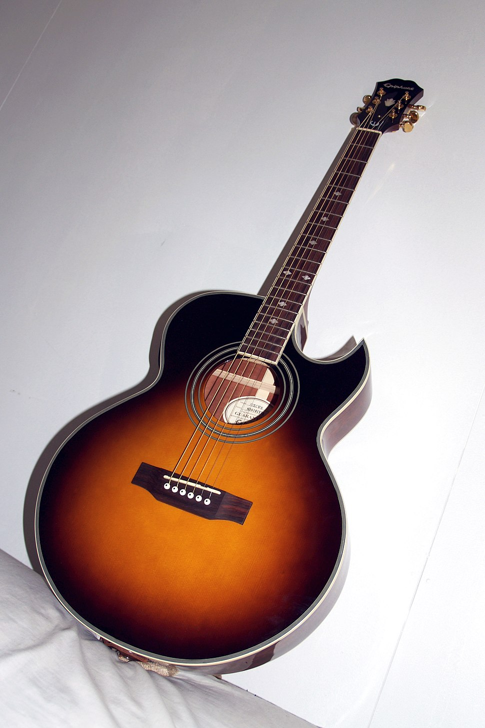 Epiphone PR-5E VS Cutaway Acoustic Electric Guitar (Vintage Sunburst)