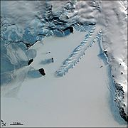 Satellite image of the Erebus Ice Tongue