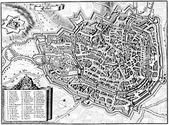 Erfurt - Erfurt in 1650