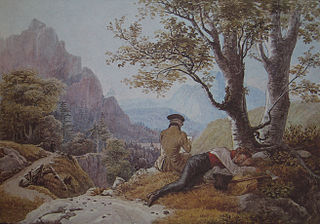 Resting Artists in the Mountains