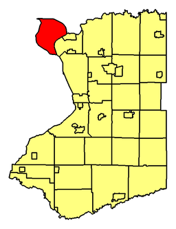 Location of Grand Island in Erie County