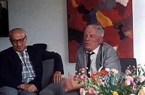 Ernst Wilhelm Nay - Ernst Wilhelm Nay (right).