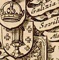 Escudo da Galiza no portolano Nova Europa de Hugo Allardt (1670).jpg