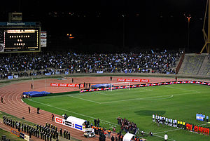 Estadio Mario Alberto Kempes - The stadium during a game played between Argentina and Ghana in 2009. This picture was taken before remodeling.