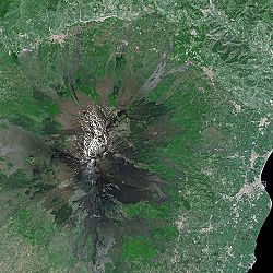 Etna seen from Spot Satellite.