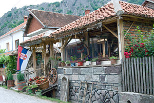 Kafana - A village kafana in Borač, Šumadija District, Serbia.
