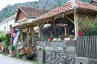 Kafana - A village kafana in Borač, Šumadija District, Serbia.