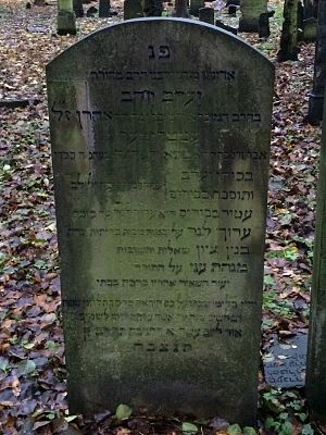 Jacob Ettlinger - Tombstone (Matzevah) of Rabbi Jacob Ettlinger, in Hamburg, Germany
