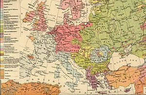 Ethnic groups in Europe - Ethnographic map of Europe, The Times Atlas (1896).